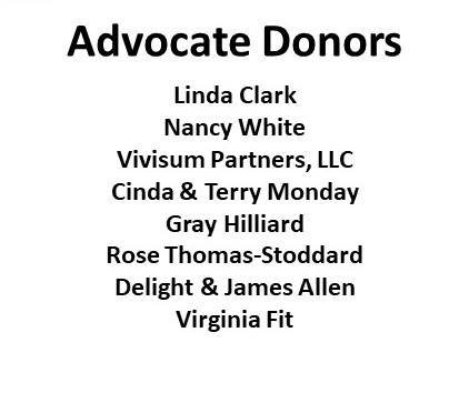 2018 Advocate Donors